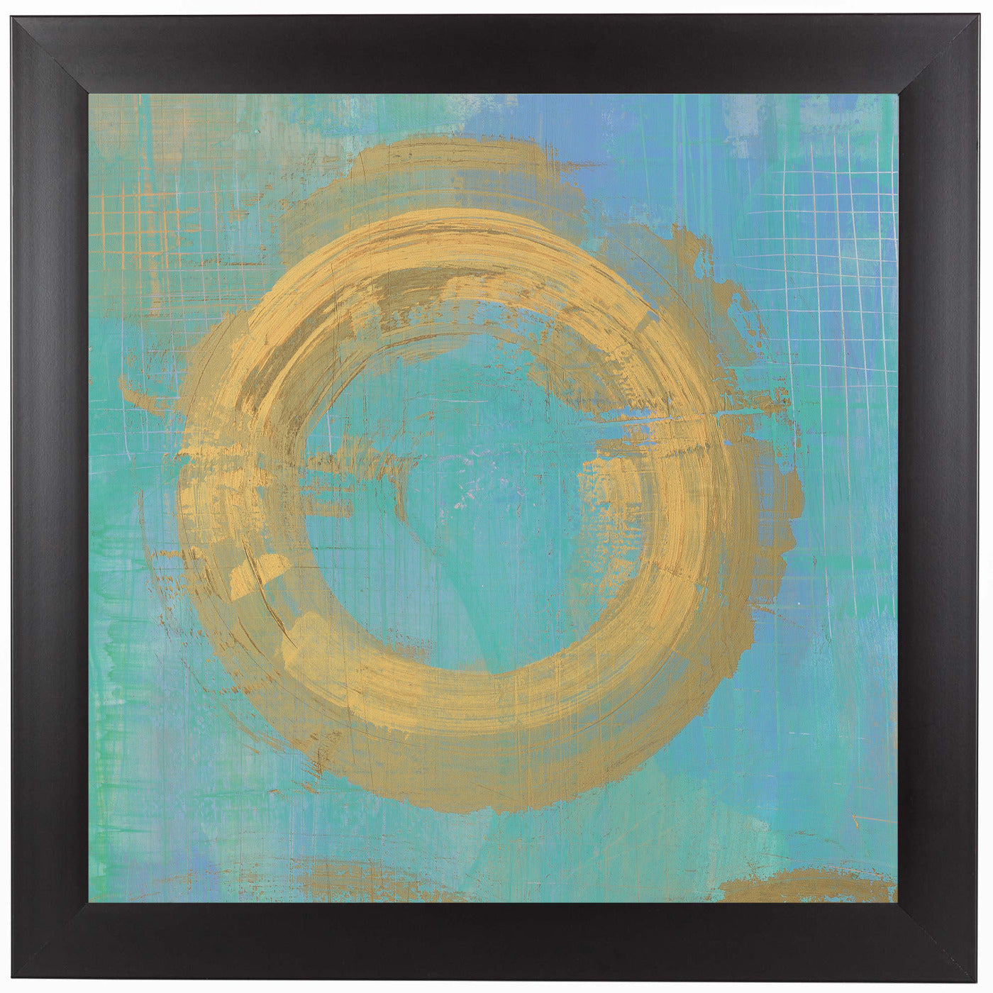 Golden Circles Ii by Wild Apple Framed Print