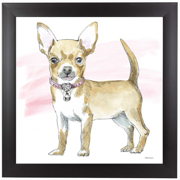 Glamour Pups VII by Wild Apple Framed Print