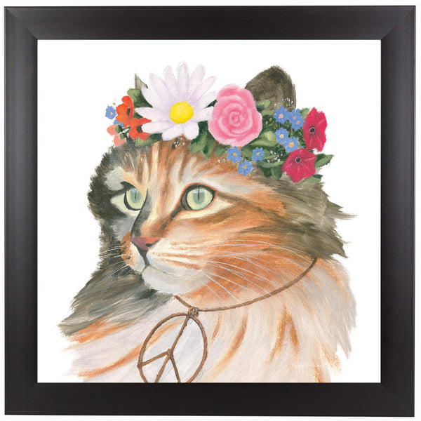 Cattitude I by Wild Apple Framed Print