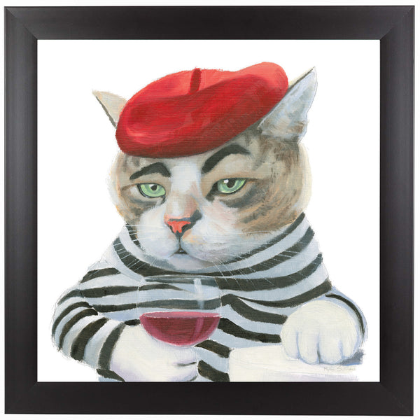 Cattitude III by Wild Apple Framed Print