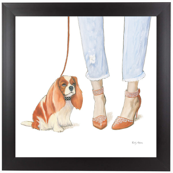 Furry Fashion Friends IV by Wild Apple Framed Print