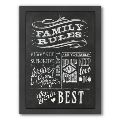 Family Rules I V2 by Wild Apple Framed Print - Wall Art - Americanflat