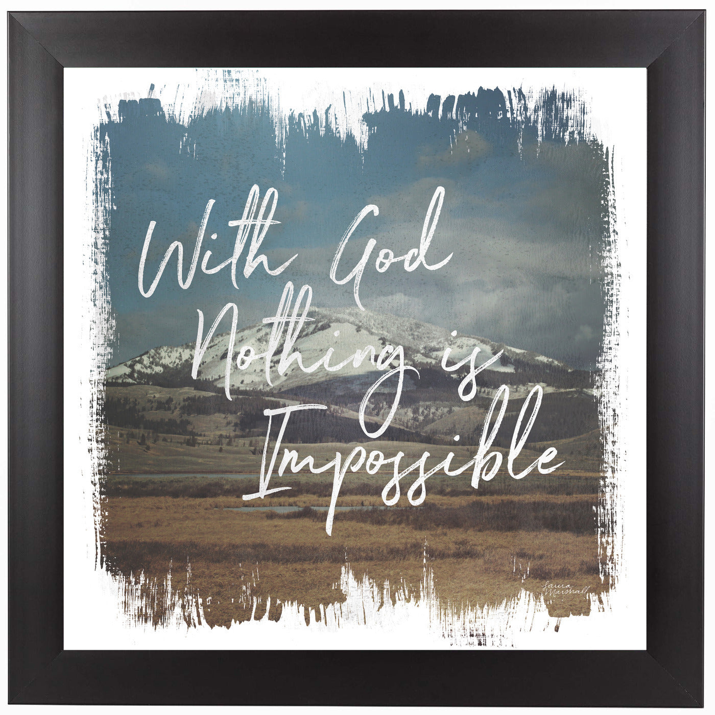 Wild Wishes I With God by Wild Apple Framed Print