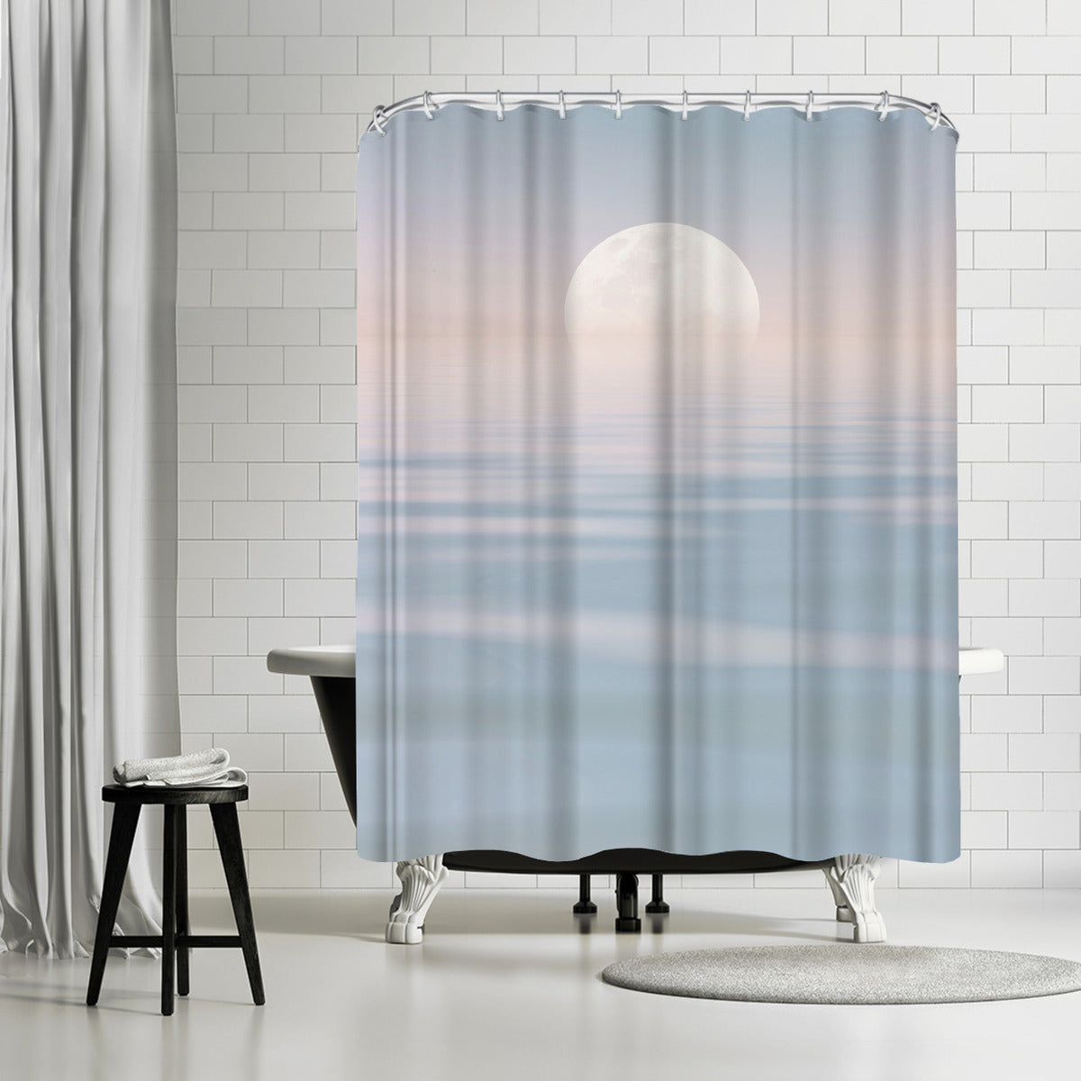 Calm Pastel Sea by Lebens Art Shower Curtain -  - Americanflat
