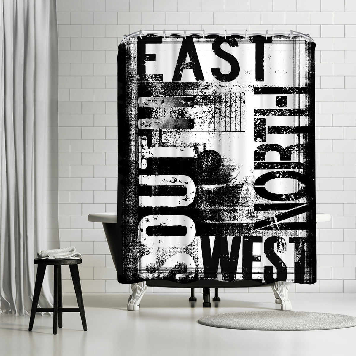 Grunge Typography by Lebens Art Shower Curtain -  - Americanflat