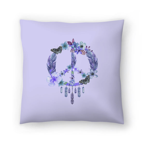 Dreaming Of Peace by Lebens Art Decorative Pillow