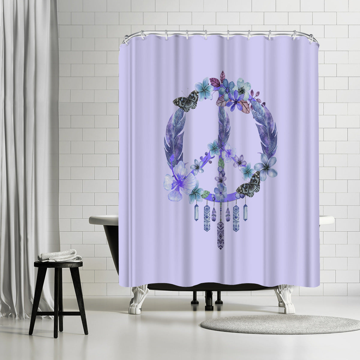 Dreaming Of Peace by Lebens Art Shower Curtain -  - Americanflat