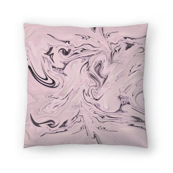 Elegant Pink Marble by Lebens Art Decorative Pillow