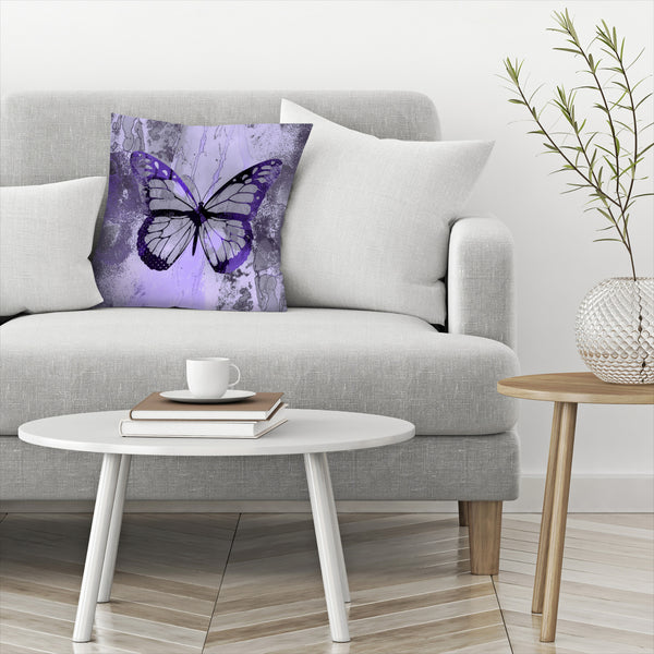 Fancy Butterfly by Lebens Art Decorative Pillow