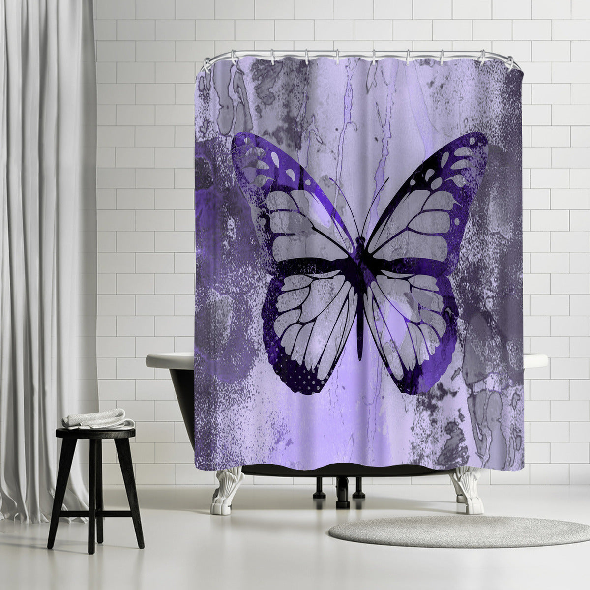 Fancy Butterfly by Lebens Art Shower Curtain - Shower Curtain - Americanflat