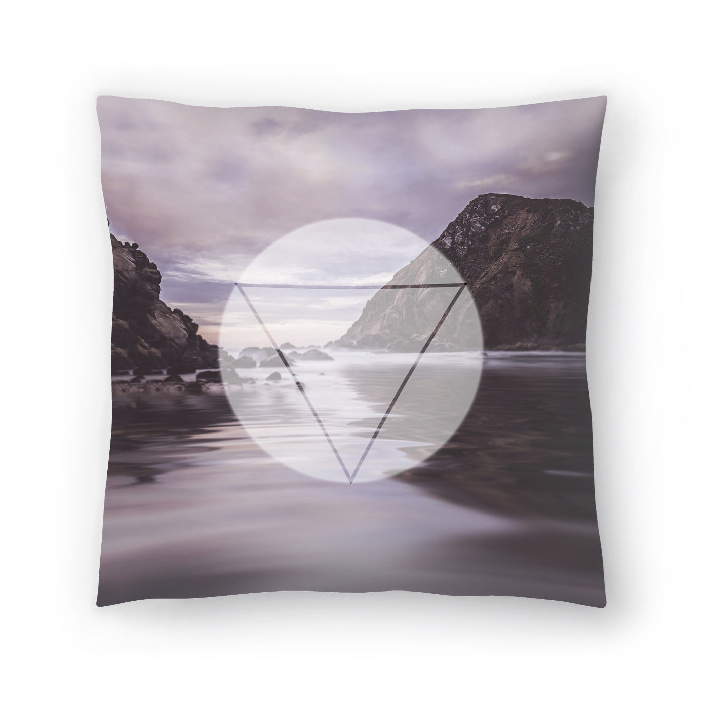 Landscape Surreal Geometry by Lebens Art Decorative Pillow - Decorative Pillow - Americanflat