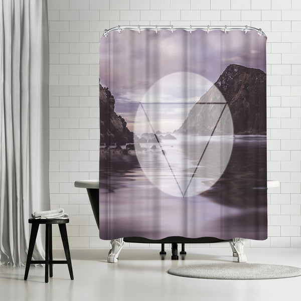 Landscape Surreal Geometry by Lebens Art Shower Curtain
