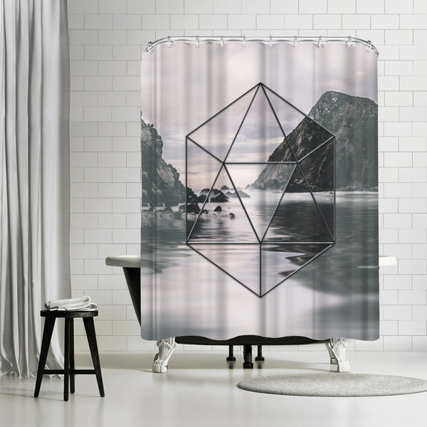 Landscape Surreal Geometry 2 by Lebens Art Shower Curtain