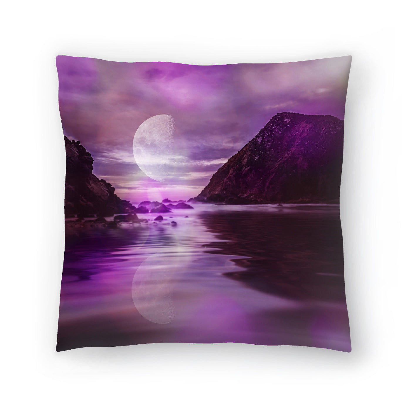 Landscape Surreal Purple by Lebens Art Decorative Pillow - Decorative Pillow - Americanflat