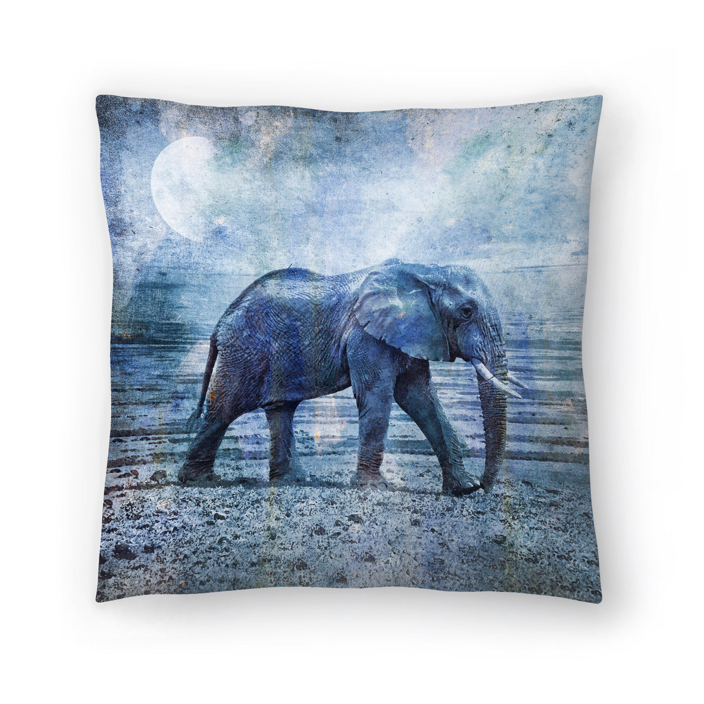 Lonely Elephant by Lebens Art Decorative Pillow - Decorative Pillow - Americanflat