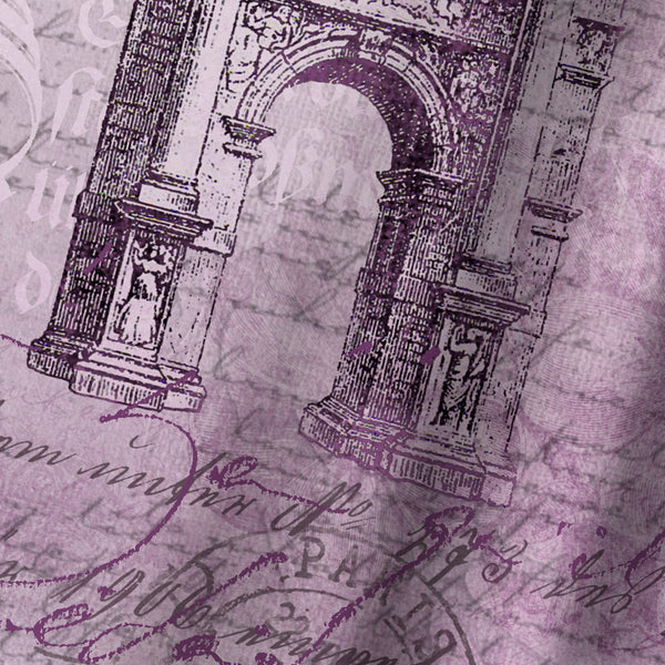 Purple Arc De Triomphe by Lebens Art Shower Curtain