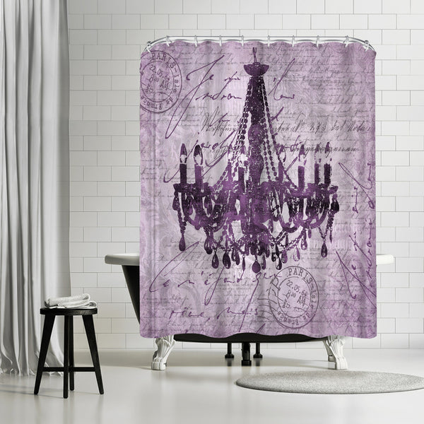 Purple Baroque Chandelier by Lebens Art Shower Curtain