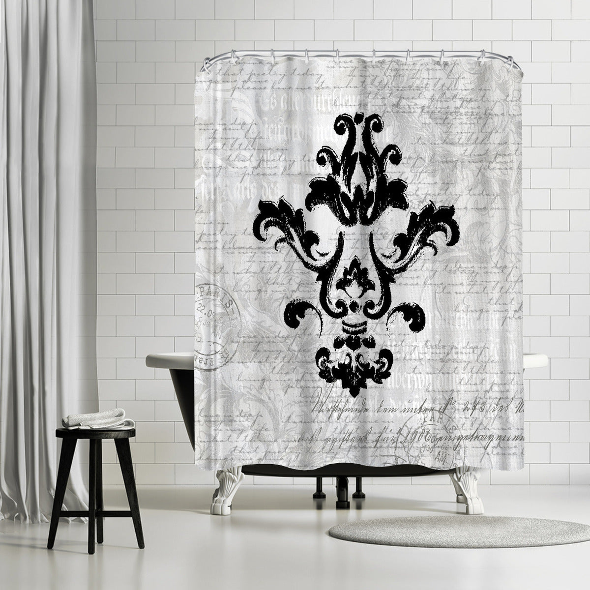 Purple Baroque Ornament 1 by Lebens Art Shower Curtain -  - Americanflat