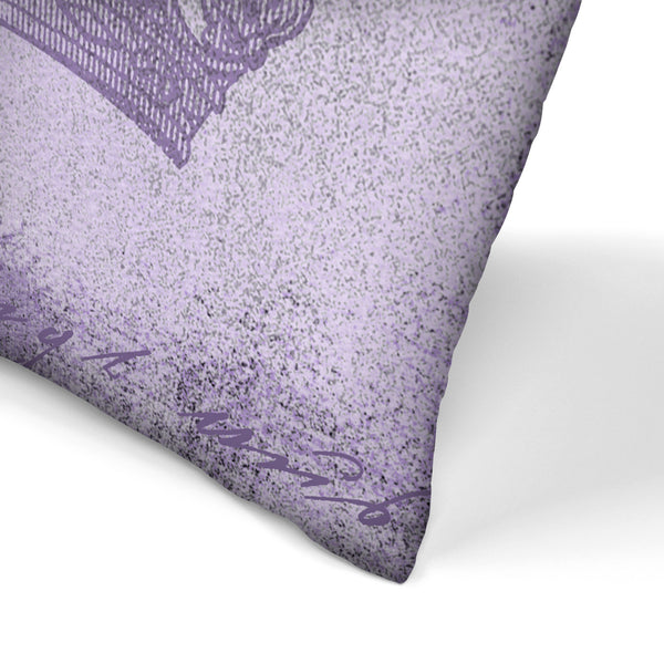 Purple Baroque by Lebens Art Decorative Pillow