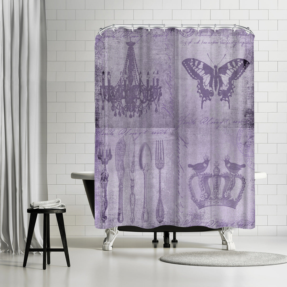 Purple Baroque by Lebens Art Shower Curtain -  - Americanflat