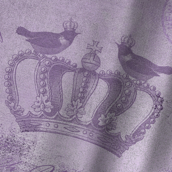 Purple Baroque by Lebens Art Shower Curtain