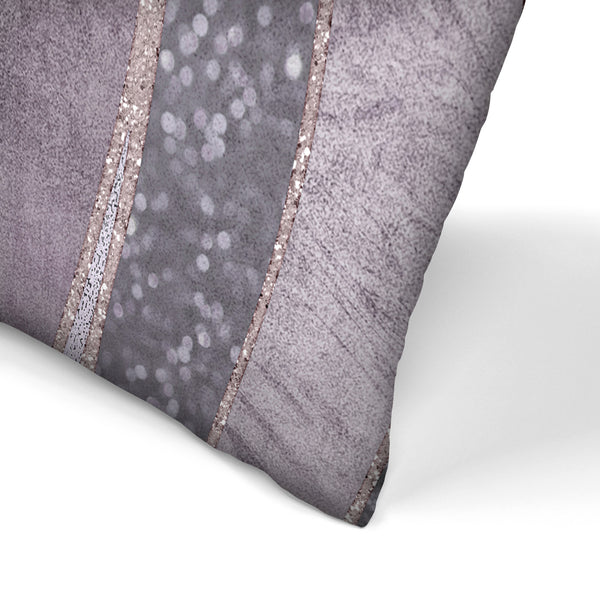 Purple Shiny Elegance by Lebens Art Decorative Pillow