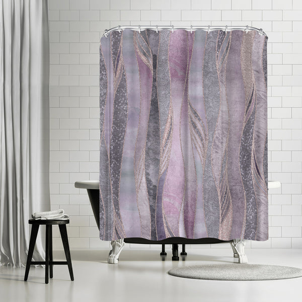 Purple Shiny Elegance by Lebens Art Shower Curtain