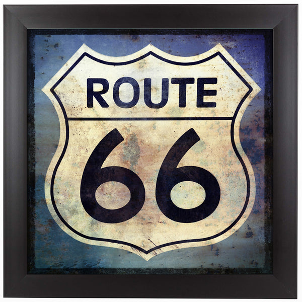Route 66 sign by Grafittee Studios Framed Print
