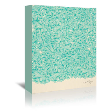 Abstract Pattern Turquoise by Cat Coquillette Wrapped Canvas - Wrapped Canvas - Americanflat