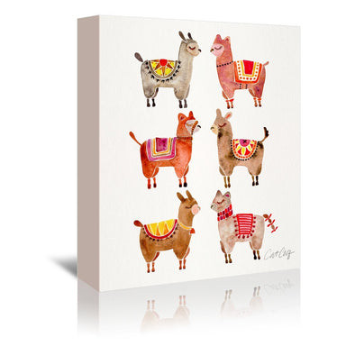 Alpacas by Cat Coquillette Wrapped Canvas - Wrapped Canvas - Americanflat