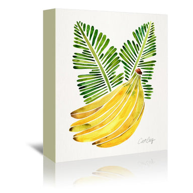Banana Bunch by Cat Coquillette Wrapped Canvas - Wrapped Canvas - Americanflat