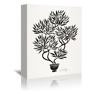 Black Bonsai by Cat Coquillette Wrapped Canvas - Wrapped Canvas - Americanflat