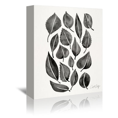 Black Fall Leaves by Cat Coquillette Wrapped Canvas - Wrapped Canvas - Americanflat
