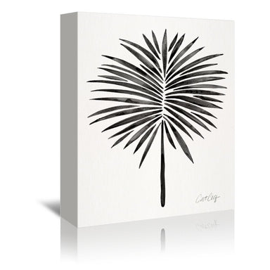 Black Fan Palm by Cat Coquillette Wrapped Canvas - Wrapped Canvas - Americanflat