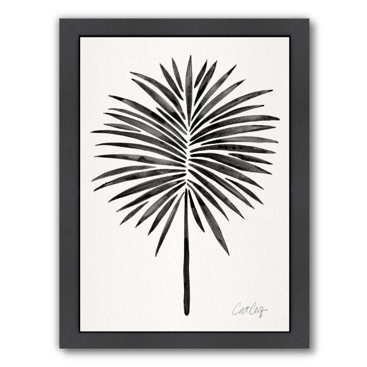 Black Fan Palm by Cat Coquillette Framed Print - Americanflat