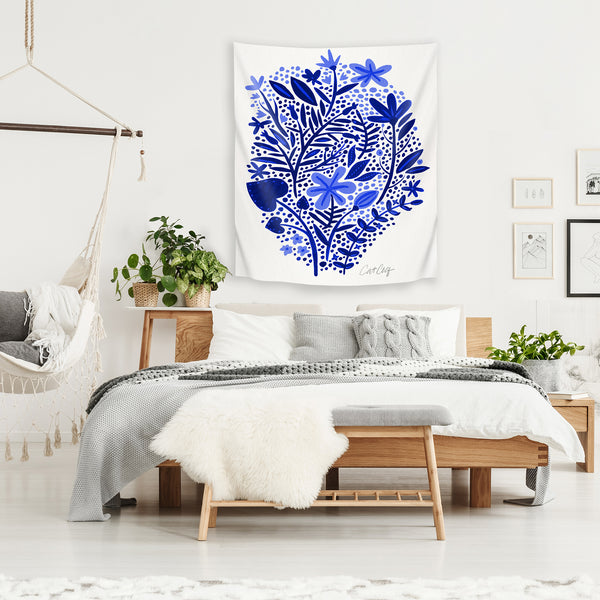 Blue Garden by Cat Coquillette Tapestry