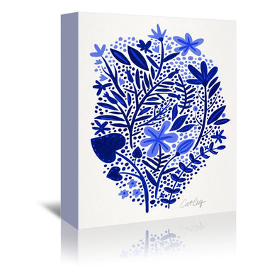 Blue Garden by Cat Coquillette Wrapped Canvas - Wrapped Canvas - Americanflat