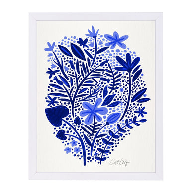 Blue Garden by Cat Coquillette White Framed Print - Americanflat