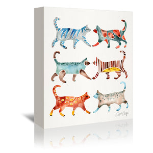 Cat Collection by Cat Coquillette Wrapped Canvas