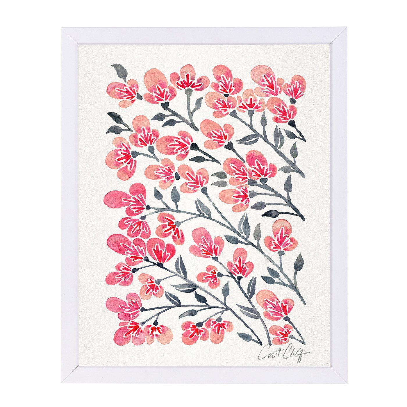 Cherry Blossoms by Cat Coquillette Framed Print - Americanflat