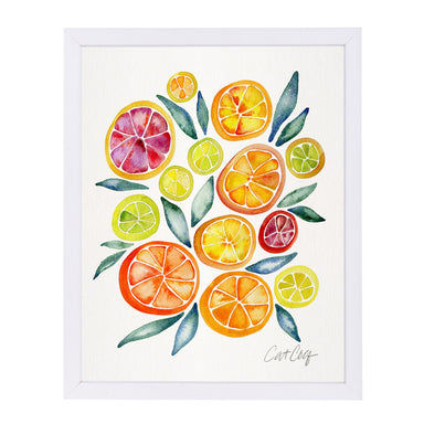 Citrus Slices by Cat Coquillette White Framed Print - Wall Art - Americanflat