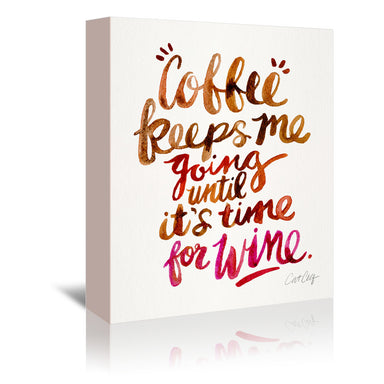 Coffee And Wine by Cat Coquillette Wrapped Canvas - Wrapped Canvas - Americanflat