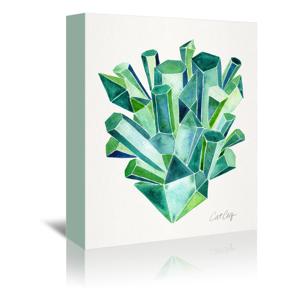 Emeralds by Cat Coquillette Wrapped Canvas
