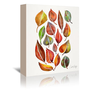 Fall Leaves by Cat Coquillette Wrapped Canvas