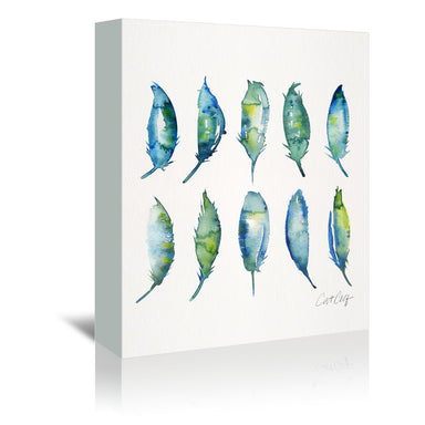 Feathers by Cat Coquillette Wrapped Canvas - Wrapped Canvas - Americanflat