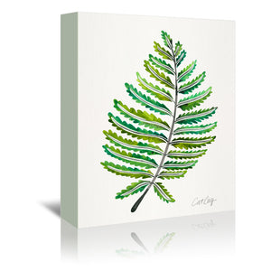 Fern Leaf by Cat Coquillette Wrapped Canvas