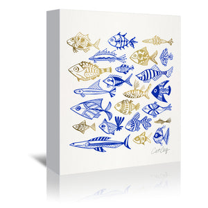Fish In Klings by Cat Coquillette Wrapped Canvas
