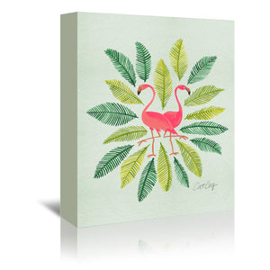 Flamingos by Cat Coquillette Wrapped Canvas