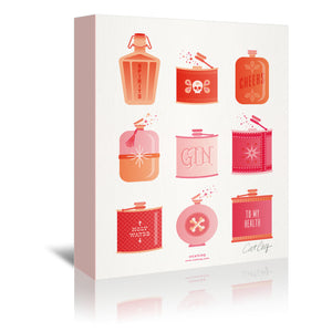 Flask Collection by Cat Coquillette Wrapped Canvas