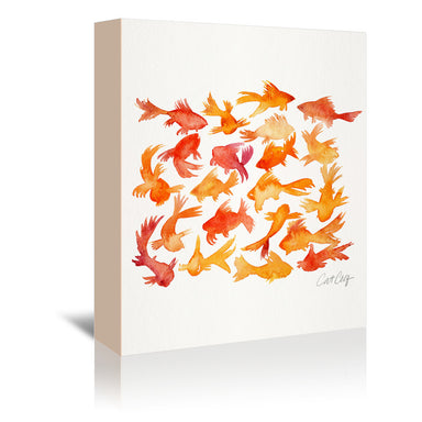 Goldfish by Cat Coquillette Wrapped Canvas - Wrapped Canvas - Americanflat
